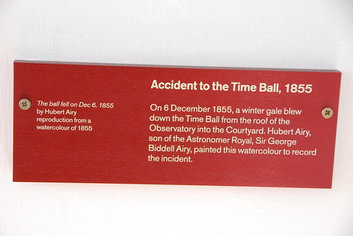 Greenwich - Royal Observatory Flamsteed House Greenwich Time Ball Accident Information Notice