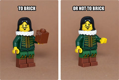To brick... or not to brick (designholic*) Tags: brick toy toys nikon lego minifig shakespear tobeornottobe serie8 d3100 designholic