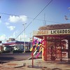 (Elowelow) Tags: street sky mexico pinata cancun jugos licuados