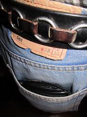 Brown bear Brse und Levis Hose gehalten von meinem 13 Jahre alten Diesel Grtel (Gramurspelfried ) Tags: out belt diesel wallet jeans worn levis bulge