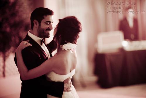 El primer baile de los novios - Copyright Edward Olive fotografo de bodas baile nupcial First dance in wedding