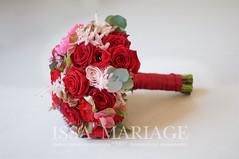 buchet nasa rosu cu trandafiri (IssaEvents) Tags: buchet mireasa cu trandafiri rosii si hortenisa rosie bucuresti valcea slatina issaevents issamariage