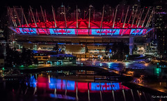 2016 - Vanouver - BC Place - World Rugby Sevens (Ted's photos - For Me & You) Tags: city red reflection vancouver nikon bc arena cropped nightscene vignetting vancouverbc waterreflection cityview bcplace 2016 bcplacestadium nightlighting cityofvancouver vancouvercity tedmcgrath cans2s tedsphotos nikonfx nikond750