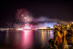 Espectculo de Luz y color (ositoheavy) Tags: semanagrande santander night longexposure fireworks cantabria cantabrico seascape cityscape