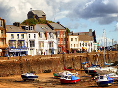 Ilfracombe, North Devon (photphobia) Tags: uk houses sky holiday haven building architecture buildings boats hotel boat vanishingpoint seaside harbour outdoor ships perspective victorian shops ilfracombe northdevon victorianterrace oldwivestale victorianresort buildingsarebeautiful