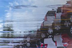 After Rain (rmehdee) Tags: rain afterrain rainy reflection wet art car road street florida sky blue day gloomyday overcast parking carpark cars composition rotatetheimage yellowlines diagonal artistic conceptual