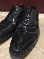 My shoes are now dirty -1 (muddy-suit) Tags: leather suit shoes patent