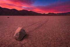 Escape the Flames (Ryan_Buchanan) Tags: death valley racetrack rocks sunrise buchanan exposurescape color nikon deathvalley theracetrack