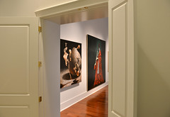 Glimpse at Clint's Last Exhibit (dr_marvel) Tags: legend icon gallery art artist galveston texas clint clintwillour gac exhibit curator curated painting sureal surealism red door view opening galvestonartcenter
