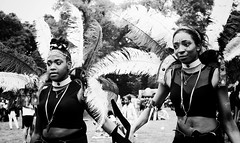 Carnival Queens (M.DStreets) Tags: amateur blackwhite bw blackandwhite candid contrast expression evening faces gx7 girls carnival manchester jamaican moss side happy innercity city jamaica uk lumix mdstreets monochrome mono movement northwest noir outdoors panasonic people portrait streets urban