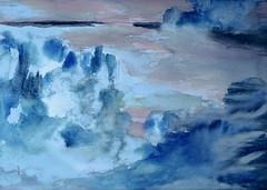 Into blue Ice Lands (KerKaya) Tags: iceland ice kerkaya art aquarelle blue iceberg icelandic island light landscape lumix leica panasonic nature mood melting painting water watercolor watercolour seascape