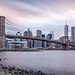 Dowtown Manhattan and Brooklyn Bridge