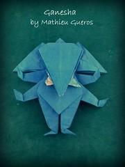 Origami Ganesha by Mathieu Gueros (Thomas Krapf Origami) Tags: ganesha god origami paper paperfolding papier papierfalten mathieu gueros elephant gttin elefant