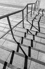 BRYAN_20160427_IMG_2366 (stephenbryan825) Tags: blackwhite liverpool boldshapes contrast diagonal graphic handrail hardlight harsh minimalist selects shadows simplicity steps zigzag