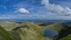 Helvellyn Panorama (ianperkins11) Tags: helvellyn striding edge swirral the lakes lake district national park cumbria hiking panorama nikon d5500 scrambling gradeone