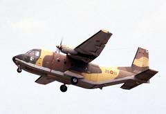 T.12B-48/35-11. Spanish Air Force CASA 212-100 (Ayronautica) Tags: aviation military scanned 1989 july airshow internationalairtattoo riat egva fairford casa212100 spanishairforce t12b48 ayronautica