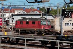 SBB Lokomotive Re 4/4 III 11355 bzw. SBB Re 430 355 - 8 ( Hersteller SLM Nr. 4856 - BBC MFO SAAS - Baujahr 1971 ) am Gterbahnhof Bern Weyermannshaus bei Bern im Kanton Bern der Schweiz (chrchr_75) Tags: christoph hurni chriguhurni chriguhurnibluemailch chrchr chrchr75 august 2016 august2016 albumsbbre44iiiii lok lokomotive sbb cff ffs schweizerische bundesbahn bundesbahnen re44 re 44