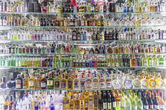 Selection (acase1968) Tags: prague liquor selection store front night lights czech republic decisions alcohol nikon d500 tokina 1120mm f28 praha absinthe tequila vodka jameson jack daniels smirnoff whiskey rum spirits