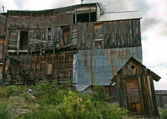 Held Together (BradPerkins) Tags: wood ghosttown abandoned decrepit decay old idahohotel spooky idaho scarydrive fallingapart urbanlandscape silvercity neglect metal