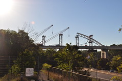 Burgoyne Bridge reconstruction - Cranes mid bridge (mattclare) Tags: burgoyne bridge stcatharines