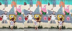 SpongeBob (DaDa1127) Tags: city color street urban cityscape cute child art wall kid alley childhood colorful painting amazing colorimage fashionmodel taiwan animation patrick graffiti taichung graffito cartoon sanp spongebob spongebobsquarepants squidward mrcrab sandycheeks
