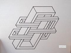 201603 (regolo54) Tags: regolo54 impossible isometric islamicart impossibletriangle triangle hexagon star watercolor aquarelle escher mcescher handmade handpainted penrose art
