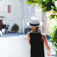 Trust Her, Follow her. (Kevin STRAGLIATI) Tags: ardche france summer parent voge kid walk father light street daughter family happy childhood