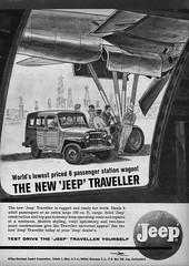 1961 Willys Jeep Traveller (aldenjewell) Tags: 1961 willys jeep traveller station wagon overland export corporation toledo ohio overseas sa switzerland ad