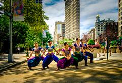 Dancers (Arutemu) Tags: city cityscape ciudad fuji fujifilm nyc ny newyork newyorkcity manhattan street 18mm