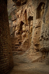 Gwalior Cliff Carvings (--Welby--) Tags: gwalior cliff carving carvings rock sandstone jain