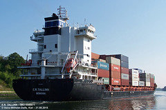 E.R. TALLINN (9448671) (005-21.08.2015) (HWDKI) Tags: ertallinn imo 9448671 schiff ship vessel hanswilhelmdelfs delfs kiel nordostseekanal nok kielcanal schlp rendsburg containership containerschiff mmsi 636092164