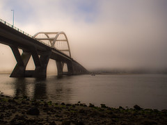 Alsea River, early Morning (Stv.) Tags: alseariver bridge camping family fog olympusomdem5 oregoncoasttrip usa vacation waldport oregon unitedstates exif:lens=olympusm17mmf18 geo:state=oregon exif:make=olympusimagingcorp exif:aperture=25 geo:country=unitedstates geolocation camera:model=em5 exif:focallength=17mm geo:city=waldport exif:isospeed=200 camera:make=olympusimagingcorp geo:lat=44434509493868 geo:lon=12407413482169 exif:model=em5
