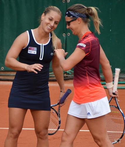 Dominika Cibulkova - Dominika Cibulkova & Kirsten Flipkens