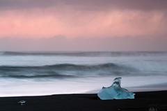 Iceberg at Dusk (Sophie Carr Photography) Tags: jokulsarlon iceberg beach iceland dusk serenity pink longexposure ndfilters tiffen rain visiblerain