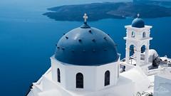 Finding the blue domes. (Jordi Corbilla Photography) Tags: nikon d750 50mm fira santorini greece jordicorbilla jordicorbillaphotography blue dome church