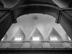 Nave (Thru@lens) Tags: blackwhite bw monochrome mono bnw noiretblanc architecture architexture abstract abstraction light shadow structure art interior indoor carlomarialanave