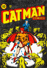 Catman Comics #31 cover re-creation by L. B. Cole, 1980 (Tom Simpson) Tags: lbcole illustration vintage art painting comics comicbook catman