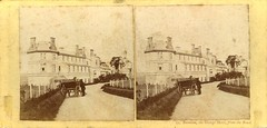 50. Bangor, the George Hotel, from the Road by Francis Bedford (c.1860)