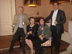Chateau Pichon Lalande Champagne welcome toast