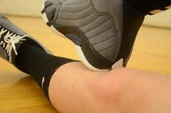DSC_3461 (jakewolf21) Tags: black socks 14 sneakers nike jordan elite gym graphite xiv shoeplay