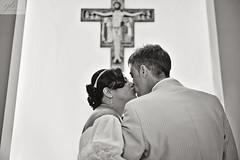 Susan & Dominic (gracecatherinebaker) Tags: wedding blackandwhite bw bride blackwhite nikon kiss natural crucifix weddingdress brideandgroom d800 weddingphotographer firstkiss weddingphotography outdoorwedding churchwedding weddingkiss nikond800 firstweddingkiss