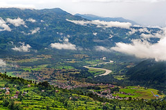 Beautiful valley (yadavop) Tags: morning nepal mountains clouds river landscape nikon photos hills valley 28 ops 2470mm trishuli nuwakot d7000