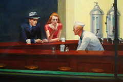 Hopper, Nighthawks with detail of trio