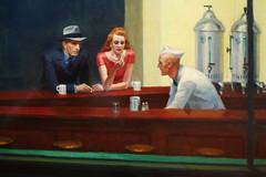 Hopper, Nighthawks with detail of trio
