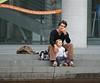 A quoi rêve un jeune père ? Which dream for a young father? (caramoul25) Tags: berlin enfant père marches rêve