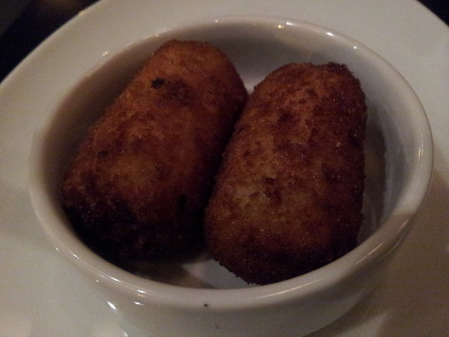 Chicken and speck croquettes