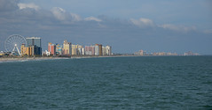 Myrtle Beach, South Carolina (PreludeVTEC01) Tags: ocean sky beach sc water clouds myrtlebeach pier nikon south southcarolina carolina myrtle hotels mb skywheel d7000 nikond7000