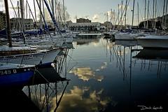 nuvole riflesse (chetelodicoaffare) Tags: sea cloud reflection boat nuvole mare barche porto riflesso