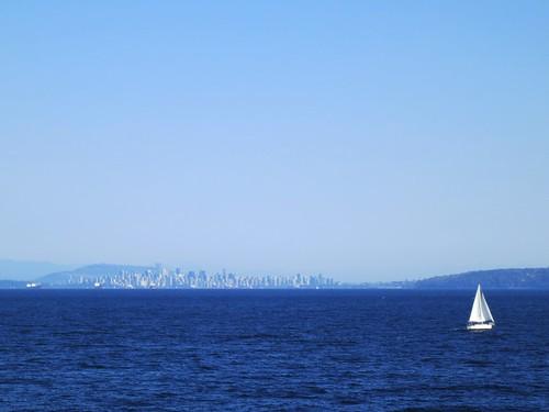 ocean city blue sea vancouver sailboat coast boat sailing cityscape view yacht sailingboat georgiastrait