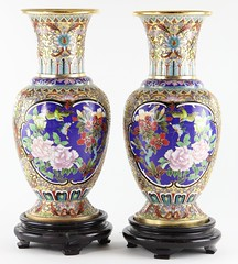 89. Fine Pair of Cloisonne Vases